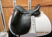 Custom Icon Echo Used Dressage Saddle 17.5