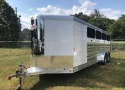 2022 Exiss Exhibitor 720W BP Livestock Trailer Lined/Insulated and AC ON ORDER