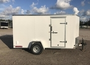 2019 Lark 6x12 V-Nose Single Axle Enclosed Cargo Trailer