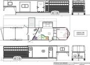 2022 Lakota LE81611 RK 16' Livestock 11' Living Quarters Trailer w/ Slide