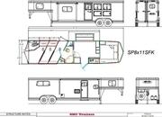 2022 SMC SP8311SFK 3 Horse, 11' Living Quarters Trailer