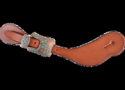 Martin Saddlery Chestnut Skirting Copper Patina Buckle Ladies Spur Straps