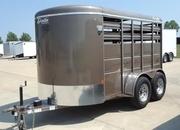 2021 Delta Manufacturing 12' LIVESTOCK TRAILER Livestock Trailer