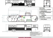 2022 Lakota C8315RK 3 Horse 15' Living Quarters Trailer