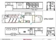 2022 SMC SP8413SSR 4 Horse 13' Living Quarters Trailer