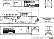 2022 Lakota C8415SR 4 Horse 15' Living Quarters Trailer