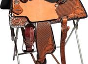 Reinsman Charmayne James Floral Barrel Saddle (14.5