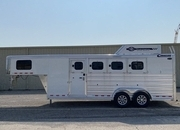 2022 Cimarron 4 Horse RTG Gooseneck Trailer