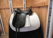 Hennig Sofa Monoflap Used Dressage Saddle 17