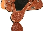 "Circle Y Tammy Fischer Daisy Treeless Barrel Saddle (13.5"", Wide Tree Free)"