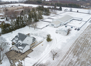 10 ACRES with HOUSE, BARN, INDOOR ARENA & HAY BARN