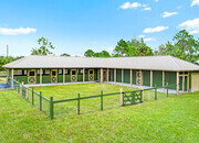 10 ACRES NEW 4 STALL BARN W/TACK & FEED ROOM