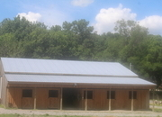 80 ACRE 1 bed CABIN  2 PONDS 1/2 MILE STREAM. BRAND NEW CYPRUS 10 60X72 BARN