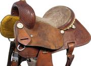 Corriente Youth Barrel Western Saddle, 13ins / FQHB - 5306-1