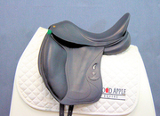 Bruno Delgrange Olympia Monoflap Dressage Saddle, 18ins Seat, X-Wide Width Fitting; Ref: 4267-8