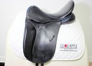 County Perfection Custom Dressage Saddle, 17.5ins Seat, Medium Wide Fitting, Short Flap; Ref: 4167-2