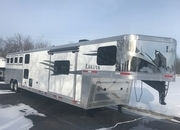 2019 Lakota Charger 4 Horse with 15' Living Quarters & Bunk Beds! RVH 1322