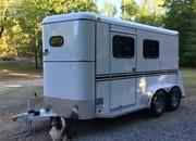 New 2 Horse Slant Warmblood Trailer, Bee Galvanneal Steel, Huge Dressing Room, Escape!
