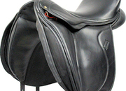 Equine Inspired Dressage Saddle, 17ins Seat, XW Fitting, X-Short Flaps - 5198-1