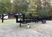 Like New Gooseneck 6 Round Bale Hay Trailer, Trip Each Bale Separately!